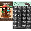 "Cybrtrayd ""Bite Size Bows"" Miscellaneous Chocolate Candy Mold with Chocolatier's Guide Instructions Book Manual"