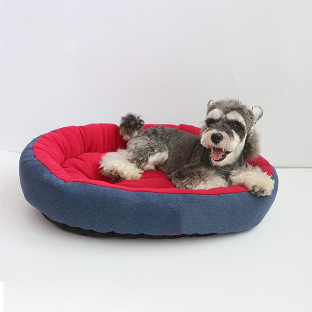 D WUTOLUO Pet Bolster Dog Bed Comfort Kennel dog mat (color   D)