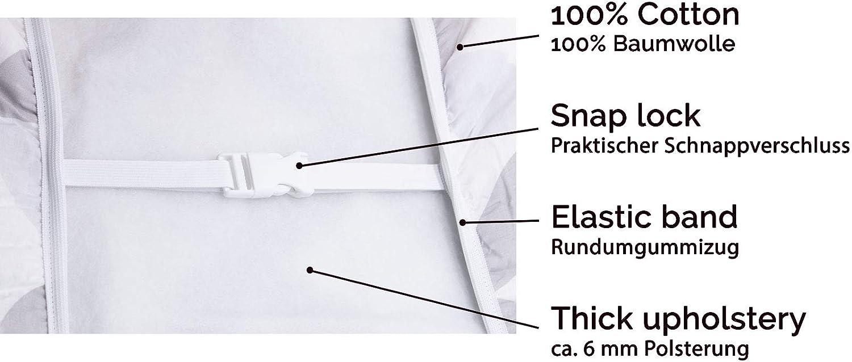 ZOLLNER Funda Tabla de Planchar Ajustable con mulet/ón y Espuma 125x48x0,6 cm