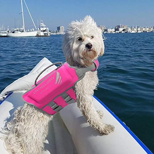 Vivaglory Pet Life Vest, Skin-Friendly Neoprene Dog Safety Vest with Superior Buoyancy and Rescue Handle, Reflective & Adjustable, Pink, Medium by Vivaglory (Image #6)