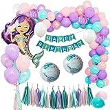 Comius 55 Piezas Sirena Party Decoración, Sirena Cumpleaños ...