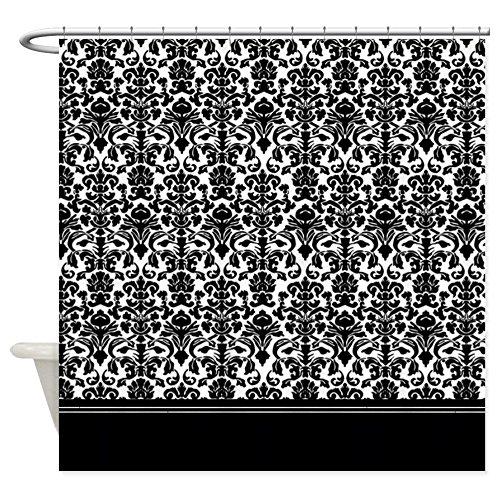 "CafePress Black Damask Shower Curtain Decorative Fabric Shower Curtain (69""x70"")"
