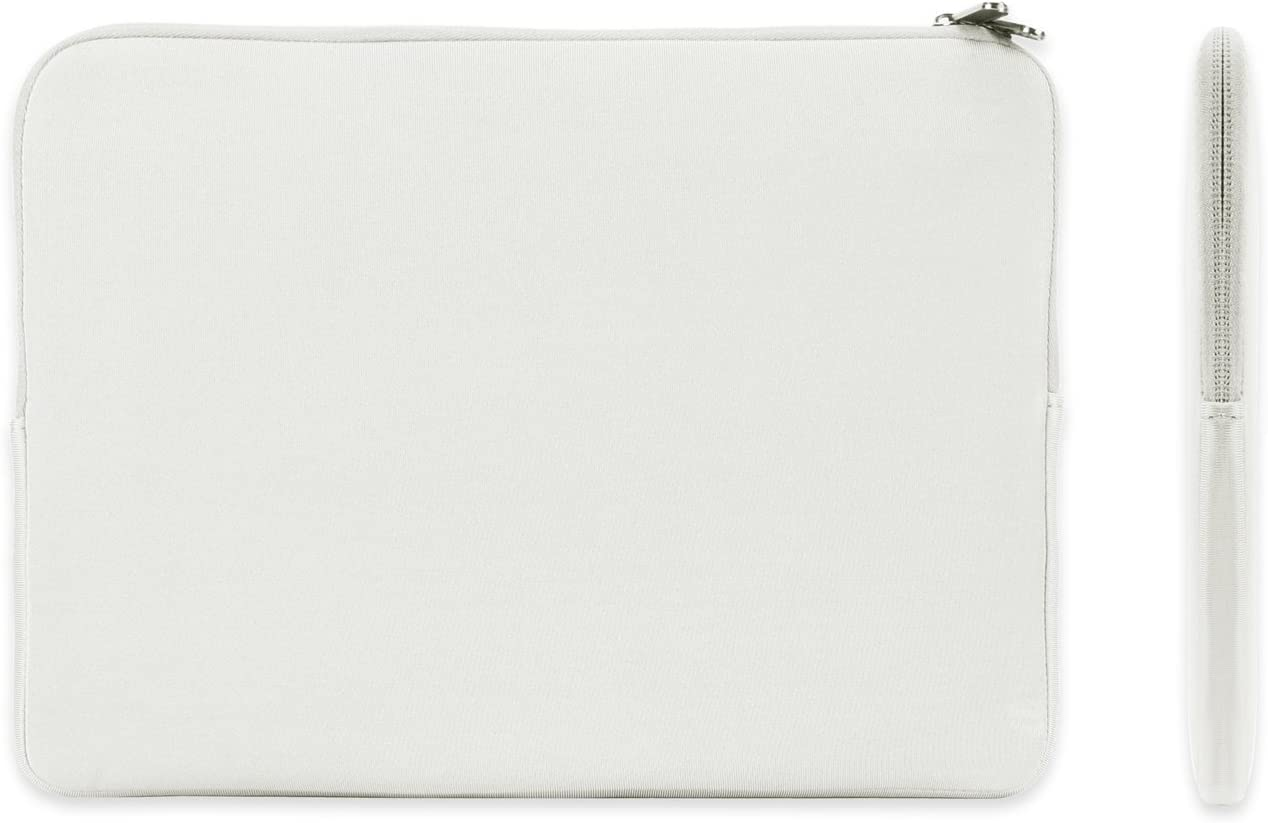 """TOP CASE - Zipper Sleeve Bag Case Compatible with MacBook Air 13"""" Retina Display and Touch ID A1932 (2018 Release) & MacBook Pro 13"""" A1989 / A1706 / A1708 (Release 2018, 2017, 2016) - White"""