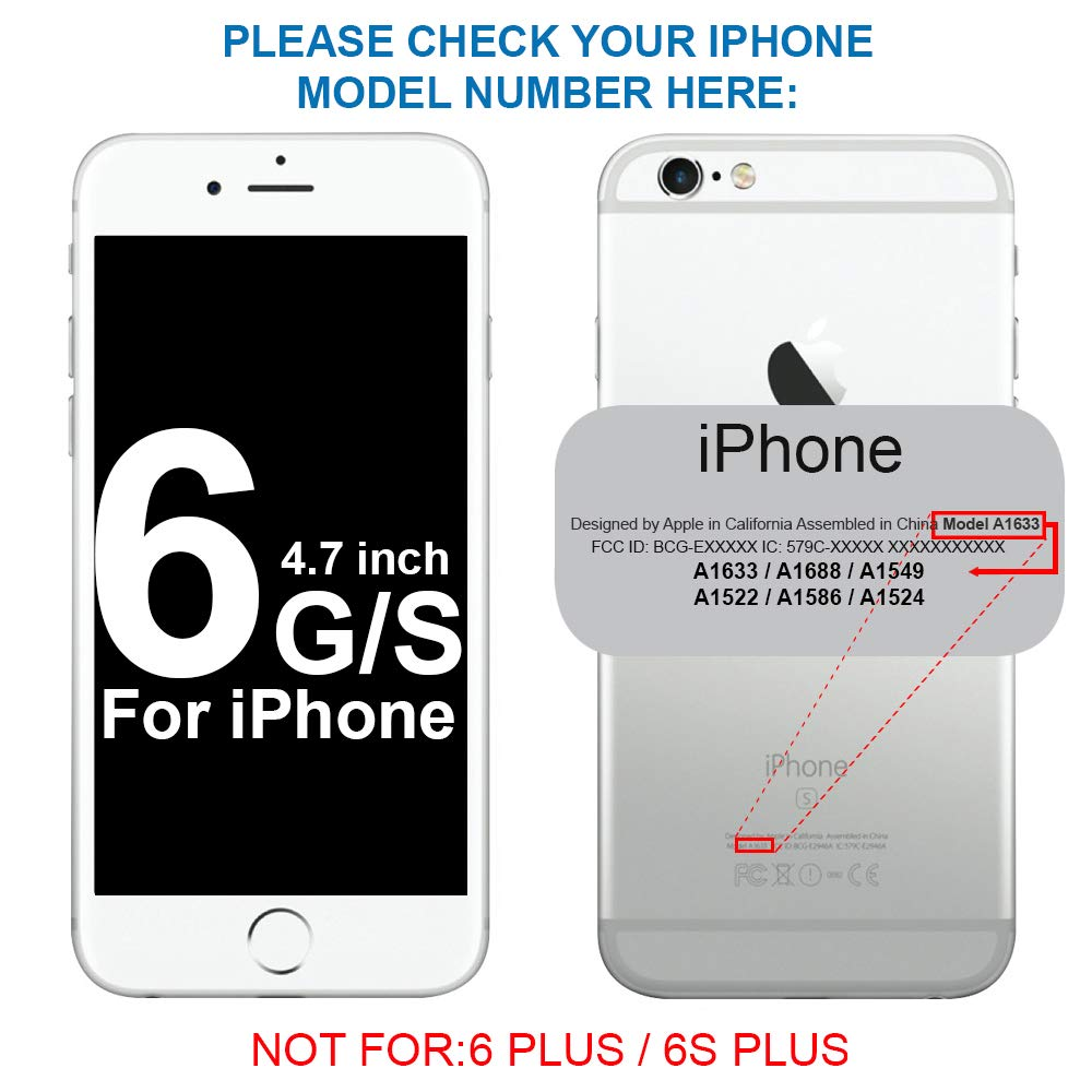 para Marco de LCD MMOBIEL 2 x Pegatina Adhesiva pre-Cortada Impermeable Compatible con iPhone 6 // 6S Negro 4.7 pulg