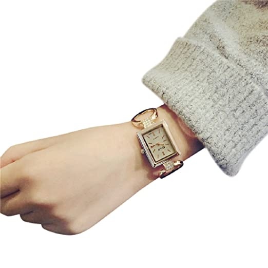 Women Watch, Lookatool Fashion Female Bracelet Rectangular Fashion Temperament Watch