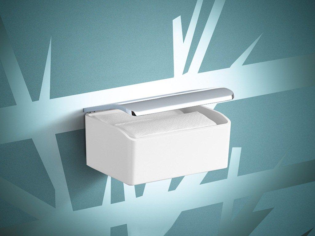 Porcelain White Keuco Elegance 11667013000 Moist Tissue Box Chrome-Plated