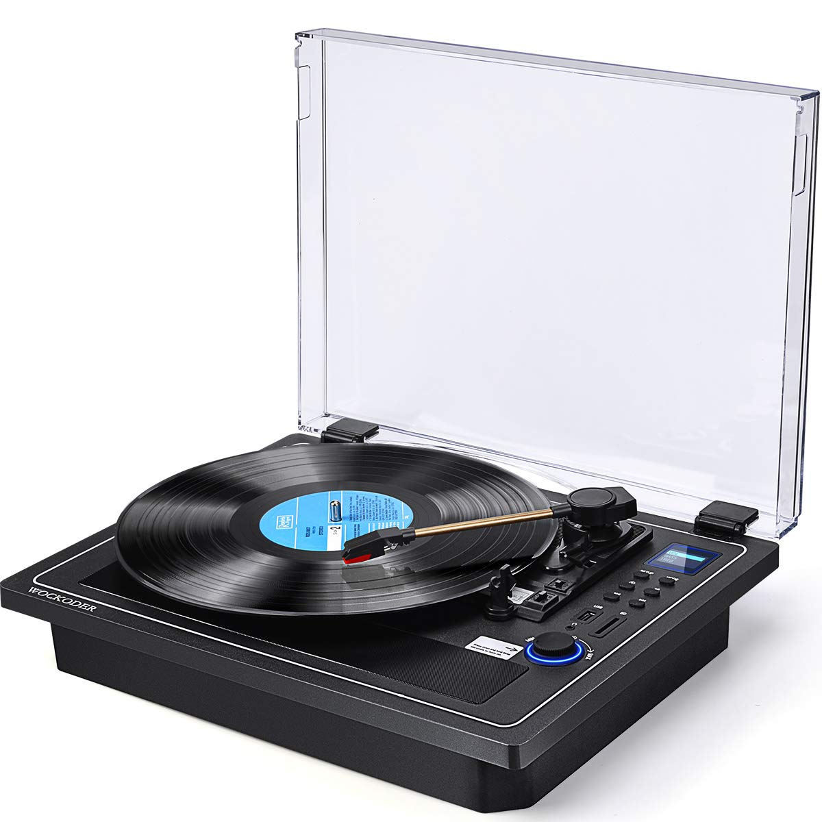 Record Player Turntale Bluetooth in & Out Record Player Built in Stereo Speakers Vinyl Records 3 Speed Turntable Player Support Vinyl-to-MP3 Recording USB SD Player (Multifunctional Record Player)