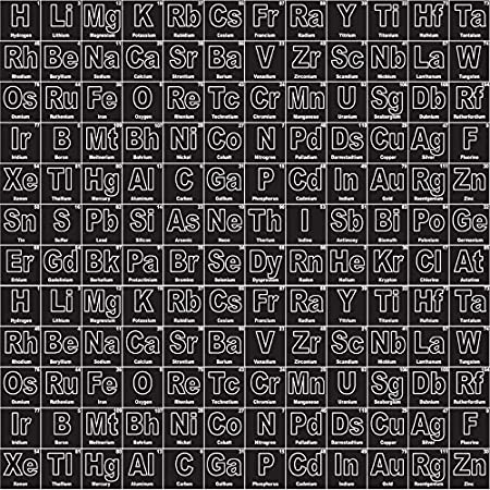 chemistry fabric 05 metre rbf482 periodic table black by riley blake 100 - Periodic Table Fabric