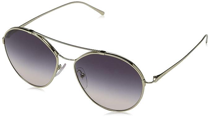 Prada 0PR 56US, Gafas de sol para Mujer, Pale God 55: Amazon ...