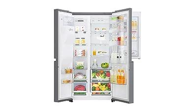 Kühlschrank Aufbau Innen : Lg electronics gsj pzuz side by side kühlschrank a