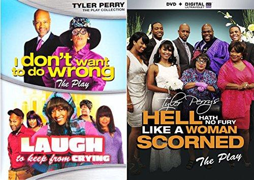 Tyler Perry Madea Triple Feature - Madea Goes to Jail, Madea's Big Happy Family (The Play) & Hell Hath No Fury Like a Woman Scorned (The Play) 3-DVD Bundle