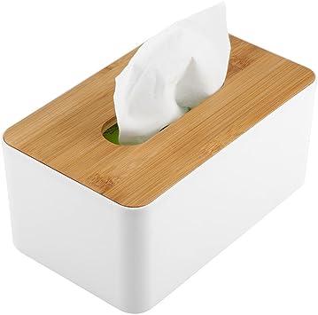 Cocina y Oficina Sala Soporte acr/ílico Transparente Rectangular Servilleta Organizador para ba/ño hblife Facial Tejido Caja dispensadora