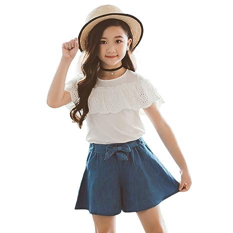 Amazon.com: Little Dragon Pig Kids Girl Trajes Blanco ...