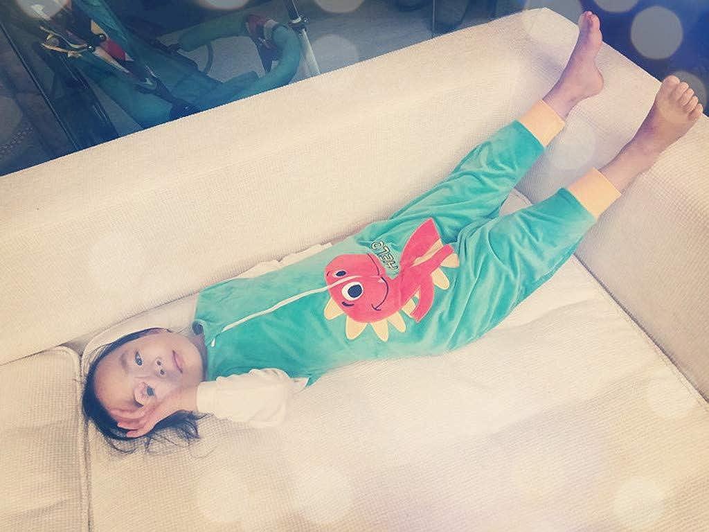 MEOILCE Toddler Kids Baby Boys Girls Cartoon Jumpsuit Fleece Wearable Blanket Sleep Bag
