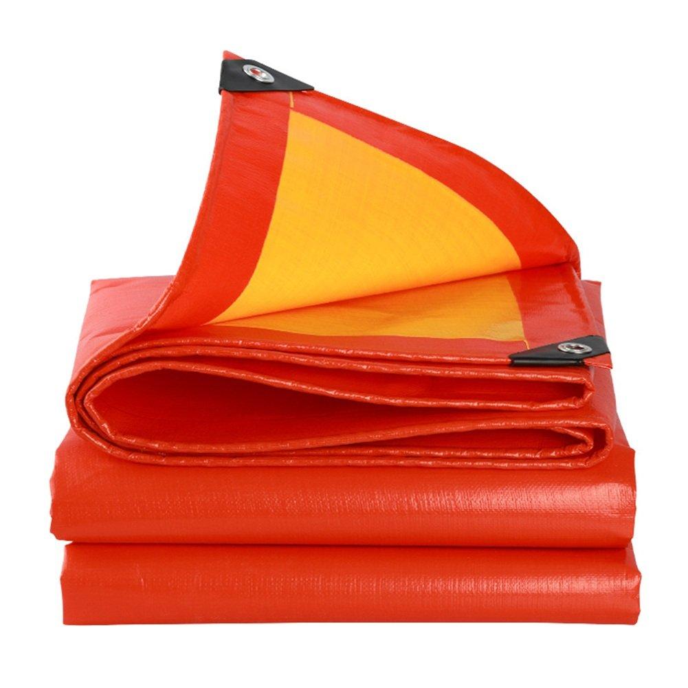 CHAOXIANG オーニング 厚い 両面 耐寒性 不凍液 アンチサン 耐食性 耐摩耗性 アンチエイジング PE 赤、 210g/m 2、 厚さ 0.38mm、 21サイズ (色 : 赤, サイズ さいず : 5×8m) B07D33K6BJ 5×8m|赤 赤 5×8m