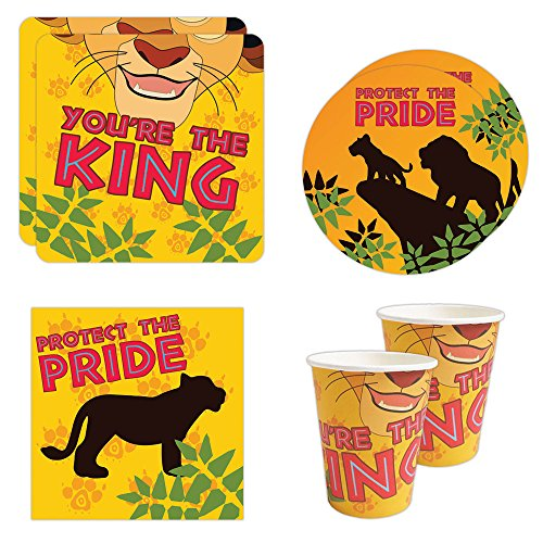 Lion Cub Standard Party Packs (65+ Pieces for 16 Guests!), Lion Guard Inspired, Birthday Decorations, Tableware