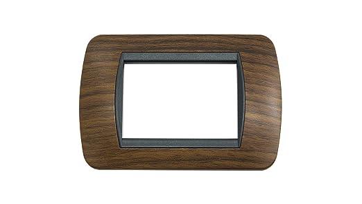 Negro, Color blanco, De pl/ástico, Universal placas de toma de corriente bticino L4803PB placa de toma de corriente
