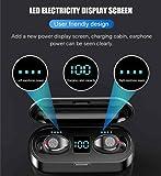 سماعات بلوتوث متطورة 2020 بوسائد اذن اديليز 5.0 مع علبة شحن ببطارية 2000 ميلي امبير وشاشة ليد لطاقة البطارية و60 ساعة من…