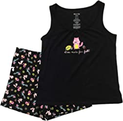 99129261724ac Womens Nuts for Fall Tank Top Pajamas Forrest Animal Shorts Sleep Set