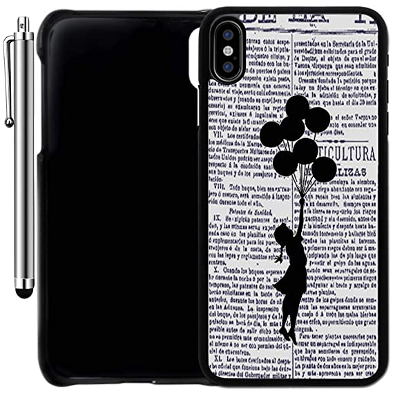 Custom Case Compatible with iPhone Xs MAX (6.5 inch) (Balloon Girl on Newspaper