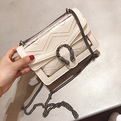 New Women's Transparent Diagonal Bag Mini Zq Wine Jelly Portable Shoulder 2018 5qwUExxAF