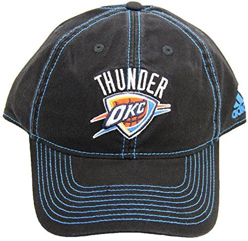 リーボックOklahoma City Thunder大人用調節可能なブラックW/コントラストステッチキャップ帽子   B00X87G5P6