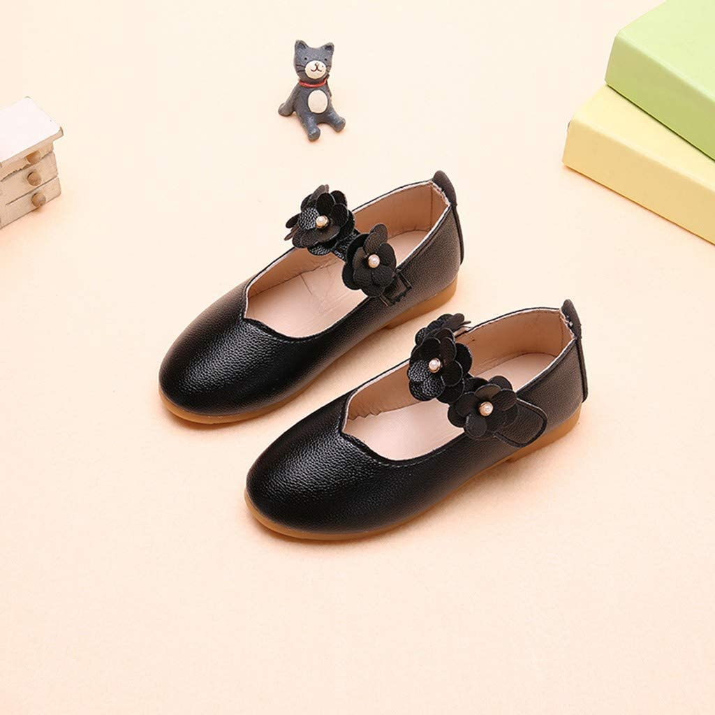 TiaoBug Chaussures Fille Mary Janes Cuir Chaussures Ballerine Danse Ballet Chaussures Princesse Communion Mariage F/ête