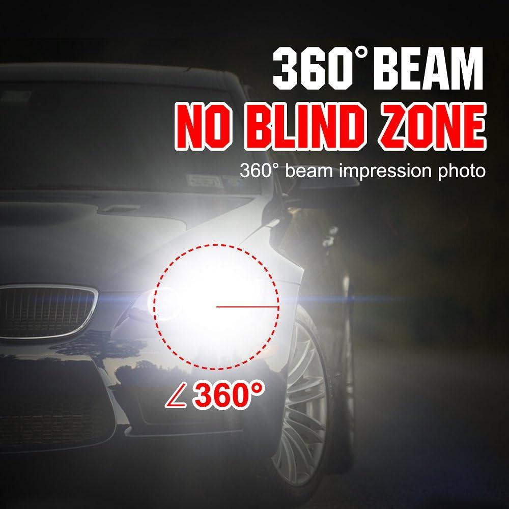 12V-24V Kit Sostituzione per Alogena Lampade e Xenon Luci Fari Abbaglianti o Anabbaglianti per Auto Lampadine H1 LED 8000LM Lampada 6000K Bianco