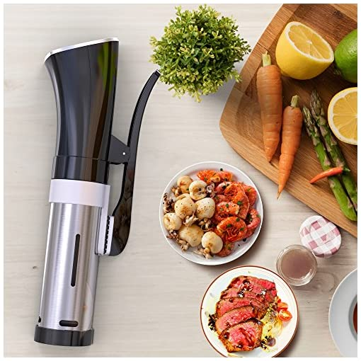 CISNO Sous Vide Cooker, 1000W Thermal Immersion Circulator Food Cooking Machine