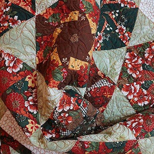 Quilt Modern Patchwork Kaleidoscope Blocks and Hexagon -