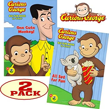 curious george coloring and activity book set 2 coloring books - Curious George Coloring Book In Bulk