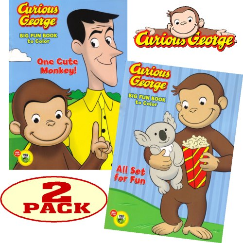 Curious George Coloring And Activity Book Set (2 Coloring Books)- Buy  Online In Dominica At Dominica.desertcart.com. ProductId : 5912345.