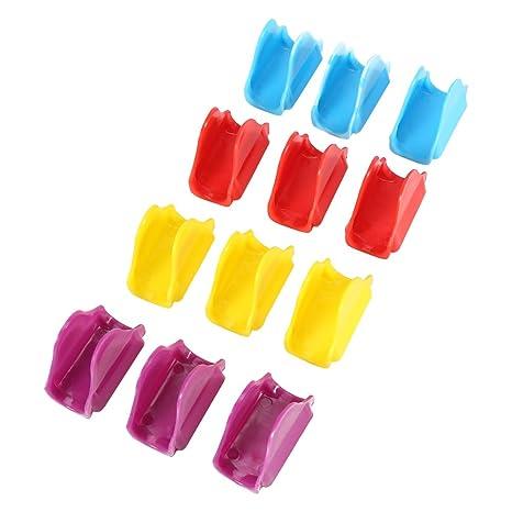 Fdit 12 pcs Molde de Taco Colorido plástico no tóxico apilable ...