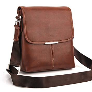 Amazon.com: Man Brown Shoulder Bag Handbag Laptop Bags Composite ...