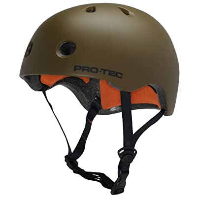 PRO-TEC Street Lite Army Green X-Small Skateboard Helmet : Sports & Outdoors
