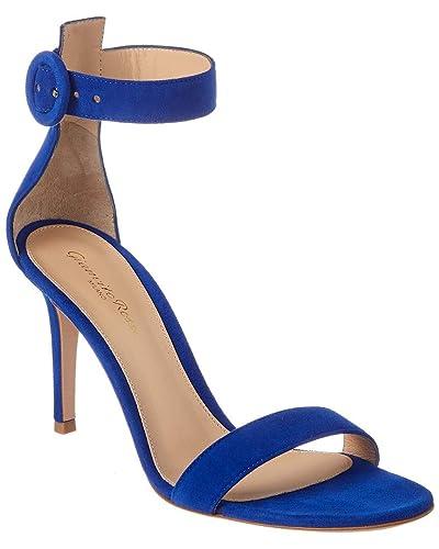 eca9e62a2cf58 Amazon.com | Gianvito Rossi Portofino 85 Suede Sandal, 36.5, Blue ...