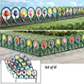 Decorative 4 Piece Tulip Border Fence Set