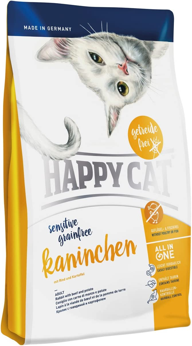 Happy Cat Sensitive Grain Free Rabbit Comida para Gatos - 1400 gr