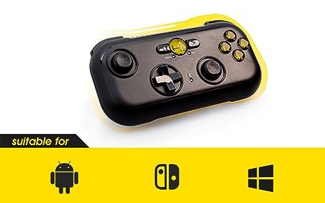 HI-SHOCK Play Nomad wireless Gamepad / Controller | Joypad inkl. Etui + Tablet Halter | Kompatibel mit Android / Windows / TV
