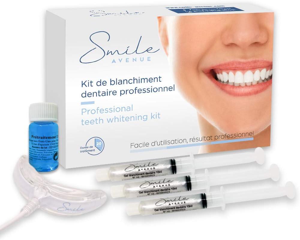 Kit de Blanqueamiento Dental   Blanqueador Dientes Gel   Tratamiento Profesional Para Blanquear   Hecho en EEUU   Smile Avenue: Amazon.es: Salud y cuidado personal