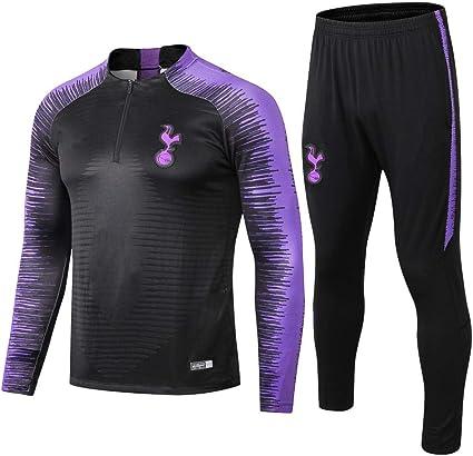 Imagen dezhaojiexiaodian Traje de Entrenamiento de fútbol Tottenham Half Pull Club para Adultos Ropa Deportiva Uniforme de Traje