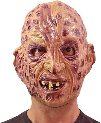 máscara del horror de goma Freddy Krueger quemaduras adultos: Amazon.es: Juguetes y juegos