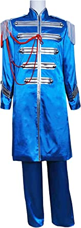 The Beatles Sgt Pepper Costume Sir James Paul Mccartney Costume Blue Clothing Amazon Com