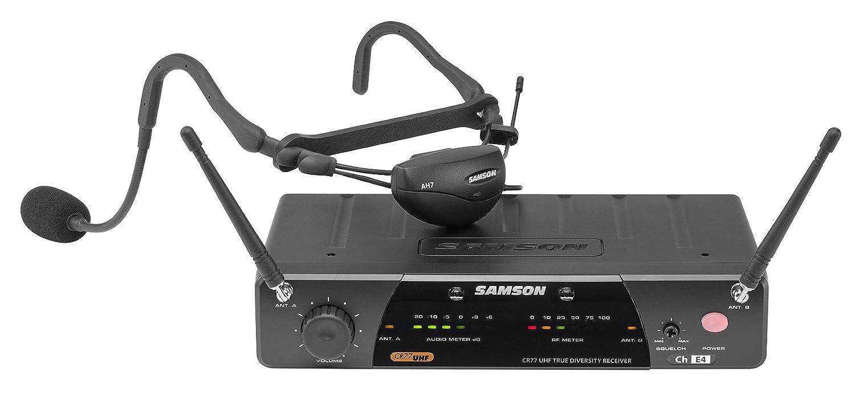 Samson Airline 77 Wireless Fitness Aerobics Headset UHF Microphone Free System
