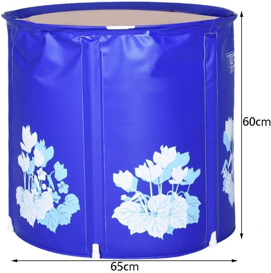 Bañera inflable Baño Adulto Barril Plástico Baño Barril Baño Plegable Barril Grueso Azul Estándar (Size : A): Amazon.es: Hogar