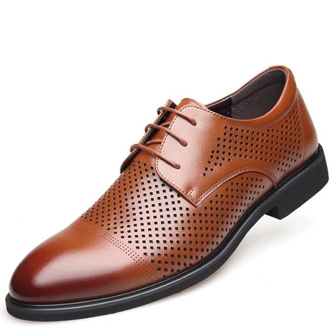 Herren Leder Derby Classic Casual Schnürschuhe Business Sandale Spitz  Formale Hochzeit Oxford Uniform Schuhe  Amazon.de  Bekleidung 9615cbe168