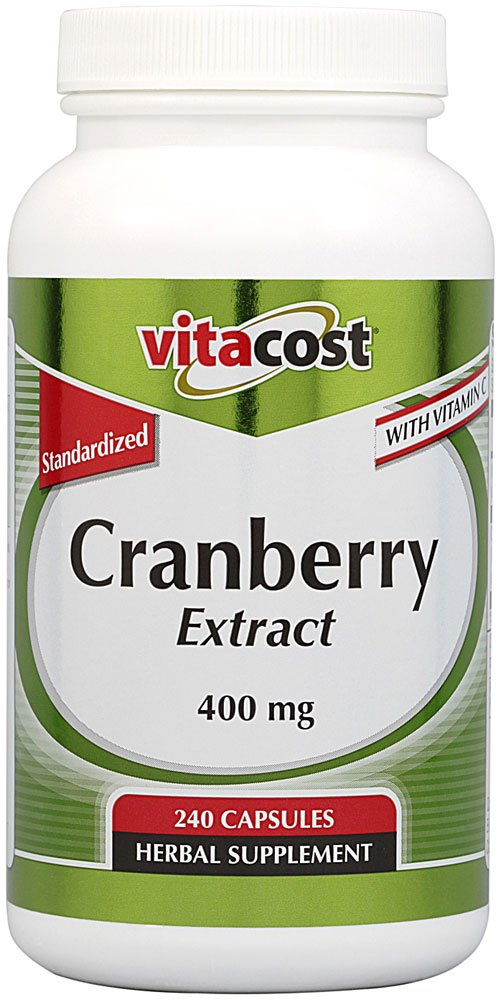 Vitacost Cranberry Extract - Standardized -- 400 mg - 240 Capsules