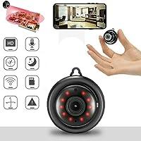 Mini Grabadora de Cámara Inalámbrica 1080p HD de WiFi, Enlace de Seguridad, Vigilancia Remota, Almacenamiento en la Nube…