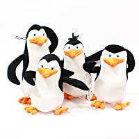 De Pinguïns van Madagascar Knuffel Schipper Kowalski Prive Rico Pop Zacht Kussen Gevulde Pop voor Kinderen Xmas Gift 4…