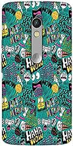 Snoogg We Love Comics Designer Protective Back Case Cover For Motorola Moto X...